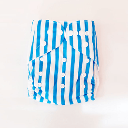 Pañal Suedecloth - Blue Strips