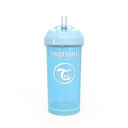 Vasos con bombilla Twistshake Celeste
