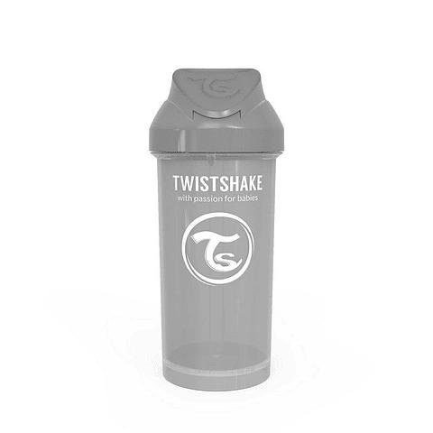 Vaso con bombilla Twistshake - Gris