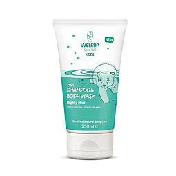 Shampoo y Gel de Ducha Niños Menta Fresca Weleda