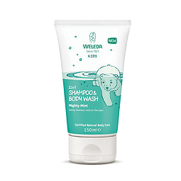 Shampoo y Gel de Ducha Niños Menta Weleda