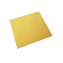 Bandeja Dorada Cuadrada Cartón 25 cm