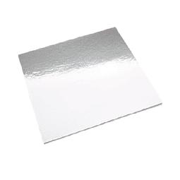 Bandeja Plateada Cuadrada Cartón 30 cm