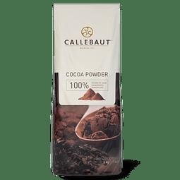 Cacao en Polvo 100% Callebaut 1 Kg.