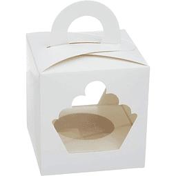 Caja Cupcakes 1x Blanca Cartulina