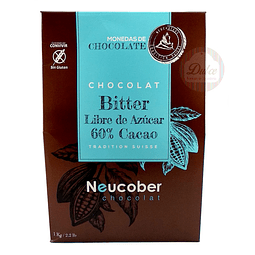 Bitter 60% Cacao Sin Azúcar Neucober 1 kg.