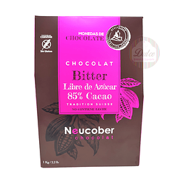 Bitter 85% Cacao Sin Azúcar Neucober 1 kg.