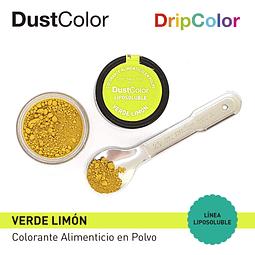 Colorante Liposoluble Verde Limón DripColor DustColor