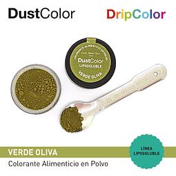 Colorante Liposoluble DripColor DustColor Verde Oliva