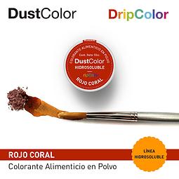 DustColor Hidrosoluble Rojo Coral 10cc. DripColor