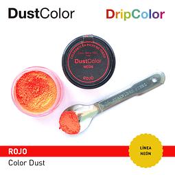 Colorante Polvo DustColor Neón Rojo 10 cc.