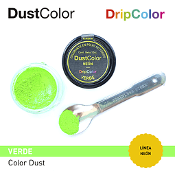 Colorante Polvo DustColor Neón Verde 10 cc.