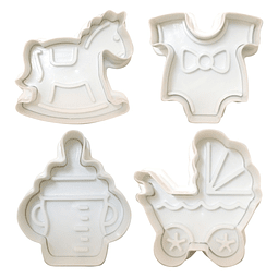 Cortadores Expulsor Baby Shower 4 piezas