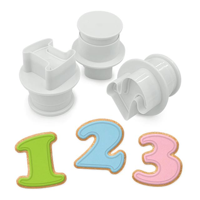 Set Cortadores Números Expulsor 10 Piezas