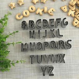 Cortadores Letras Metálico 26 Piezas