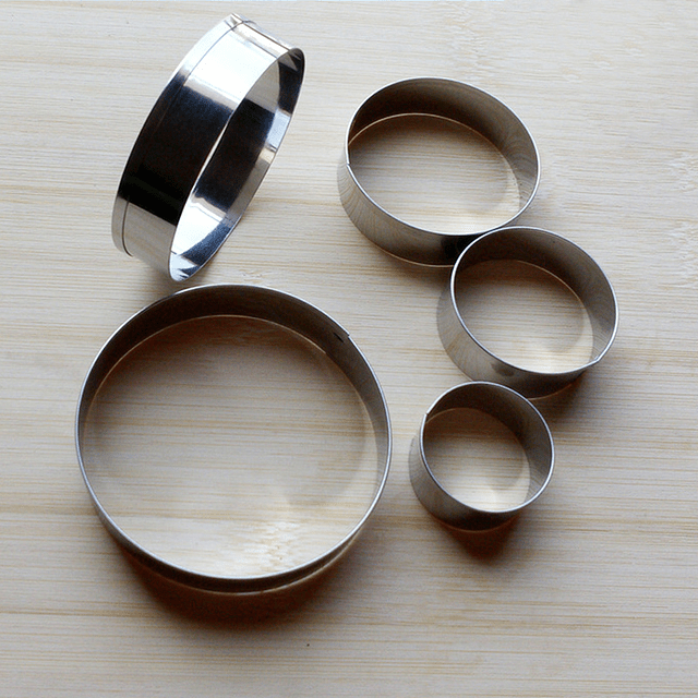 Set Cortadores Circulo Metálicos 5 Piezas