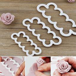 Cortadores Rosas Plástico 3 Piezas