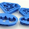 Set Cortadores Batman Superman 4 Piezas