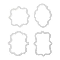 Set Cortadores Vintage Plásticos 4 Piezas