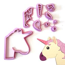 Cortador Unicornio Plástico 9 Piezas