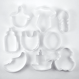 Set 9 Cortadores Baby Shower Plástico
