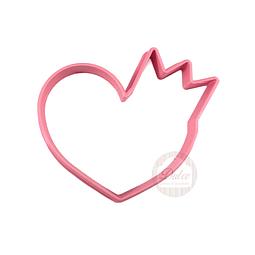 Cortador Plástico Corazón con Corona