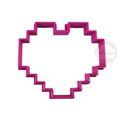 Cortador Plástico Corazón Pixelado