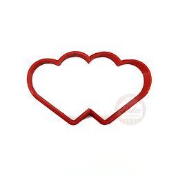 Cortador Plástico Corazón Doble