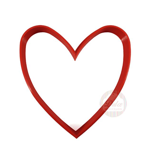Cortador Plástico Corazón N°3
