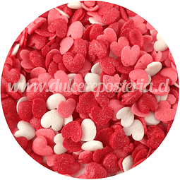Decoración Corazones Rojo, Rosa y Blanco 100 gr.