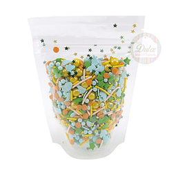 Decoración Premium Confetti Colores con estrellas 70 gr.