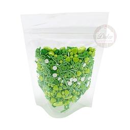 Decoración Premium Confetti Verde 70 gr.