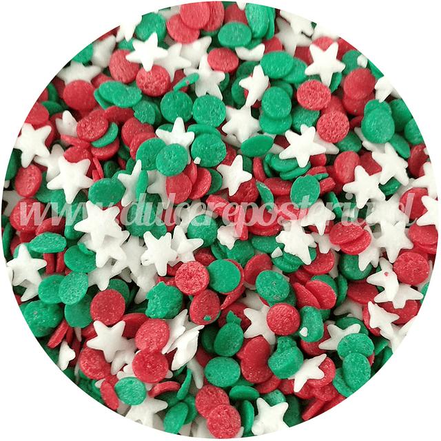 Decoración 100 gr. Estrella y Confetti Navidad