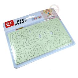Estampador Acrílico Alfabeto 040