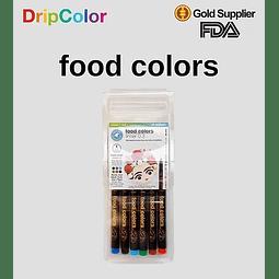 Set 6 Marcadores Ultra Finos Linners Drip Color