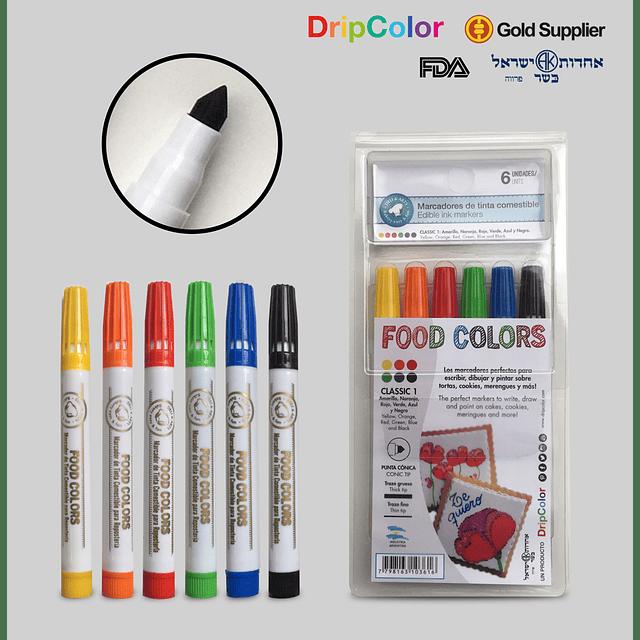 Set 6 Marcadores Classic Set 1 Drip Color