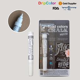 Marcador Comestible Blanco Chalk Drip Color