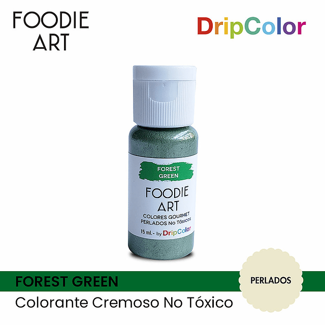 Foodie Art Forest Green Drip Color 15 ml.
