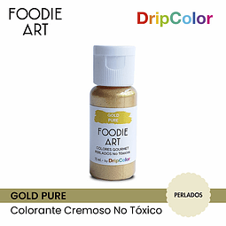 Foodie Art Drip Color 15 ml. Gold Pure
