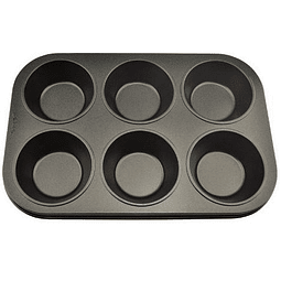 Molde Antiadherente 6 Cupcakes