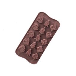 Molde Chocolate Santa, Pino y Regalo Silicona