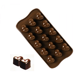 Molde Chocolate Corazón Silicona