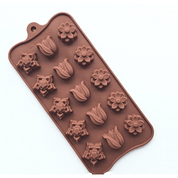 Molde Chocolate Flores Diseño Silicona