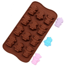 Molde Chocolate Robot Silicona