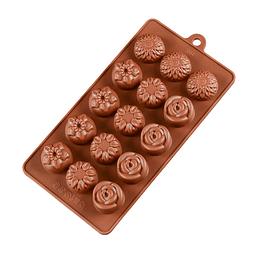 Molde Chocolate Bombón Flor Silicona