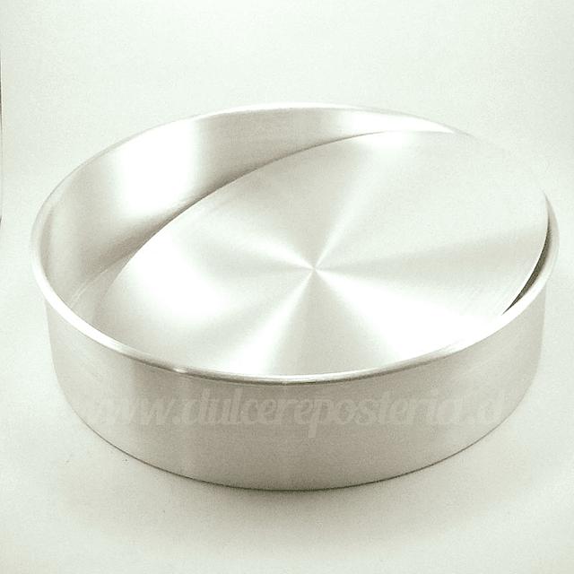 Molde Redondo 30 cm. Desmontable Aluminio