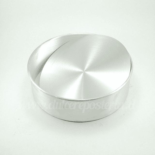 Molde Redondo 22 cm. Desmontable Aluminio