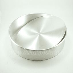 Molde Redondo 26 cm. Desmontable Aluminio