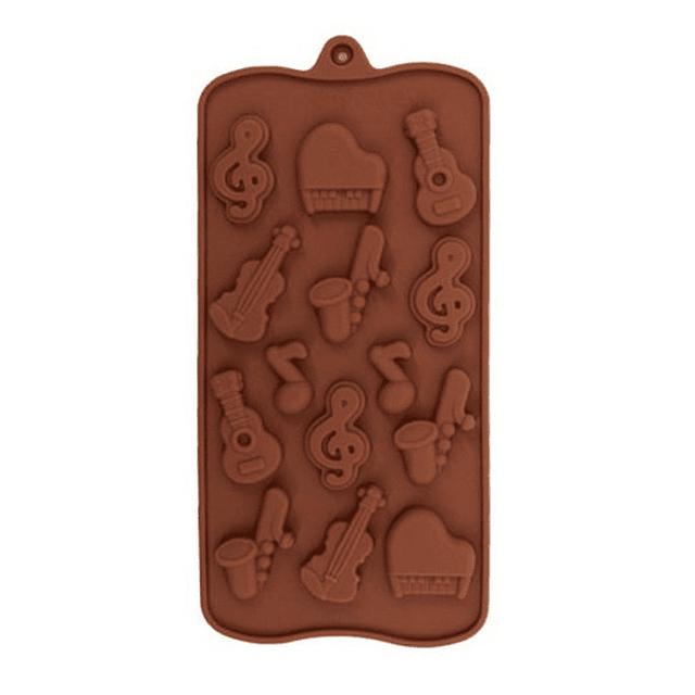 Molde Chocolate Música Silicona