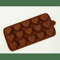 Molde Chocolate Corazón con Detalle Silicona